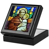 St Anthony window Keepsake Box