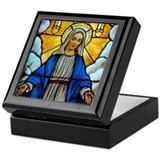 Mary window Keepsake Box