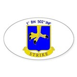 1st BN 502nd INF Oval Decal