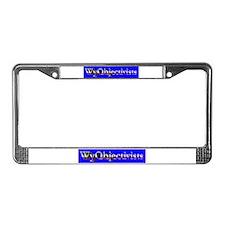 WyObjectivists License Plate Frame