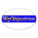 WyObjectivists Oval Sticker