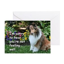 Get Well Sheltie Fetch Card