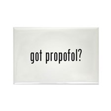 got propofol? Rectangle Magnet (100 pack)