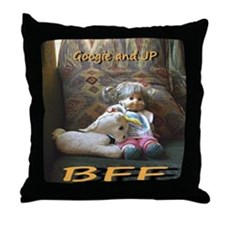 JP and Googie Throw Pillow
