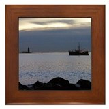Lobster Boat Framed Tile