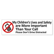 Don't Drive Distracted Bumper Car Sticker