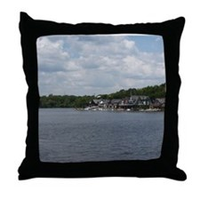 Philadelphia Throw Pillow: Boathouse Row
