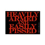 Heavily Armed Rectangle Magnet (10 pack)