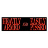 Heavily Armed Bumper Car Sticker