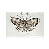 antique gothic moth Rectangle Magnet (10 pack)