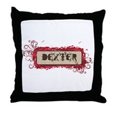 Retro Dexter Logo Throw Pillow