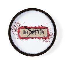 Retro Dexter Logo Wall Clock