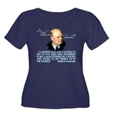Winston Churchill on Taxation Women's Plus Size Sc
