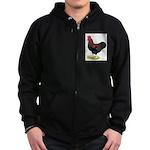 Partridge Rock Rooster Zip Hoodie (dark)