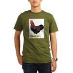 Partridge Rock Rooster Organic Men's T-Shirt (dark