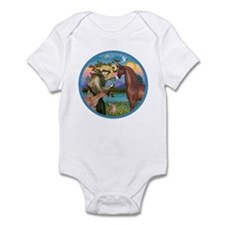 St Francis/Horse (Ar-Brn) Infant Bodysuit