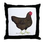 Partridge Rock Hen Throw Pillow