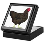 Partridge Rock Hen Keepsake Box