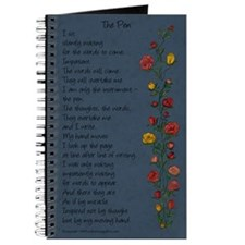 """The Pen"" Poem/Rose Trellis Journal"