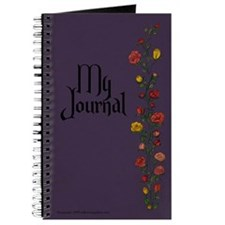 Purple with Rose Trellis Journal