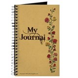 Parchment with Rose Trellis Journal