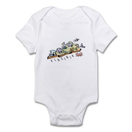 Virginia Map Infant Bodysuit