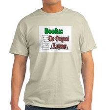 Books: the Original Laptop light colors T-Shirt Li