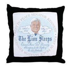 Ted Kennedy Tribute Throw Pillow