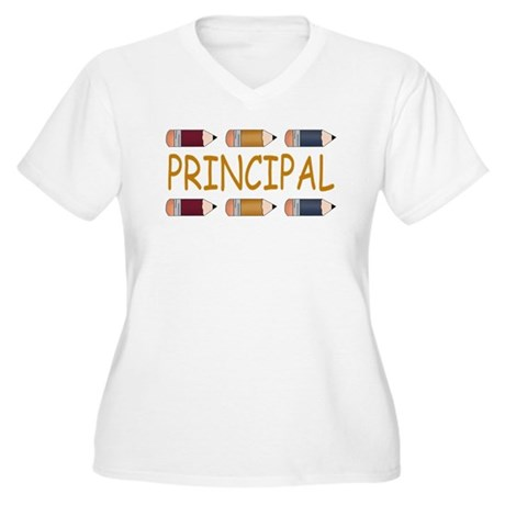 Best School Principal Women's Plus Size V-Neck T-S