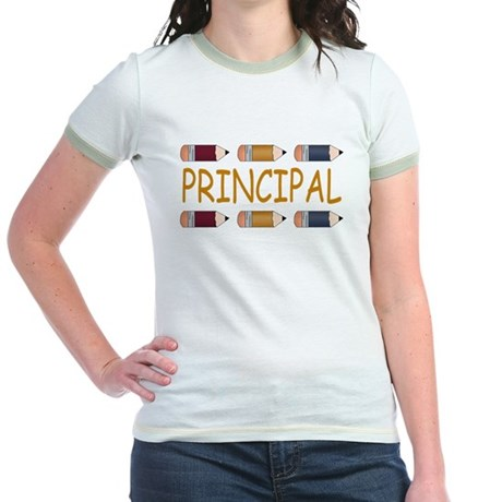 Best School Principal Jr. Ringer T-Shirt