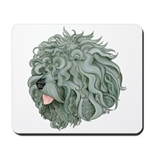 Shaggy Grey Schnoodle Mousepad