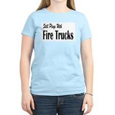 Plays with Fire Trucks T-Shirt