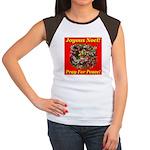 Patriotic Wreath Women's Cap Sleeve T-Shirt
