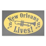 NOLA LIVES! Rectangle Decal