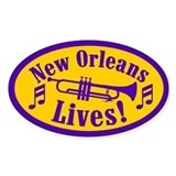 NOLA LIVES! Oval Decal