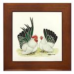 Black-tailed White Japanese B Framed Tile
