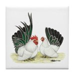 Black-tailed White Japanese B Tile Coaster