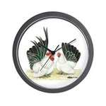 Black-tailed White Japanese B Wall Clock