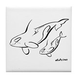 Killer Whale Tile Coaster
