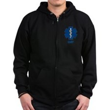 EMS Star of Life with EMT Zipped Hoodie