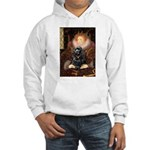 Queen / Cocker Spaniel (blk) Hooded Sweatshirt
