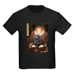 Queen / Cocker Spaniel (blk) Kids Dark T-Shirt