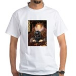 Queen / Cocker Spaniel (blk) White T-Shirt