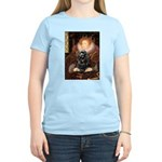 Queen / Cocker Spaniel (blk) Women's Light T-Shirt
