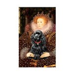 Queen / Cocker Spaniel (blk) Sticker (Rectangle 10