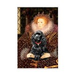 Queen / Cocker Spaniel (blk) Mini Poster Print