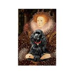 Queen / Cocker Spaniel (blk) Rectangle Magnet