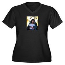 Our Lady of Sorrows Women's Plus Size V-Neck Dark