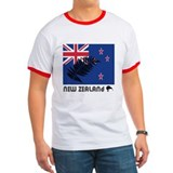 New Zealand Flag Silver Fern T
