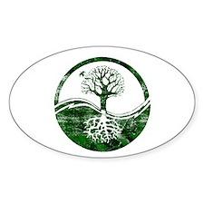 Yin Yang Tree Oval Decal